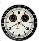 Citizen 18 Silver Wall Clock With Hygrometer and Thermometer New Model CC2019