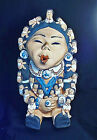 Large Hand Sculpted R C Ramey Native American Grandmother Story Teller 24 Childr