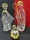 Gorham Crystal Nativity Manger Mary Joseph and Jesus Original Box