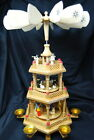 Christmas Lillian Vernon Nativity Carousel Candle Windmill Wooden Pyramid German