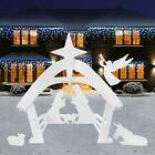 NEW 2020 3D CHRISTMAS 4 Tall Outdoor Nativity Back or Front Yard Scene Set