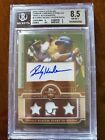 RICKEY HENDERSON 2010 Topps Sterling Autograph Auto & 3 Relics BGS 8.5 #ed 2 10