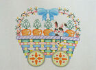 Handpainted Needlepoint Canvas Painted Pony Easter Bunny Carrot Train PP 250BB