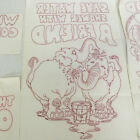 vintage tri chem hot iron transfers PG rated designs large retro style