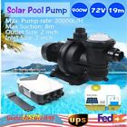 900W 72V DC Solar Pool Pump Swimming Spa Pool Brushless Motor +MPPT Controller