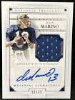 Dan Marino Autograph 2016 National Treasures Game Worn Jersey Auto # 25 Dolphins