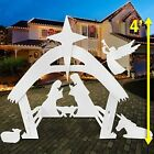 Easy GO Products 4 TALL 3D CHRISTMAS Outdoor Nativity Yard Scene Set