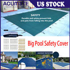 Pool Safety Cover Rectangle Inground for Winter Swimming Pool Mesh Solid