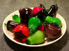 13 piece Murano Style Collection of Handblown Glass Vegetables and Fruit