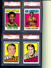 1971-72 Topps Elgin Baylor -Elvin Hayes -Barry- Billy C. HOF lot (4) PSA 8-7