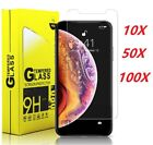 100x Wholesale Lot Tempered Glass Screen Protector for iPhone 11 12 mini pro max