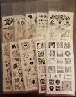 Lot of 10 Inkadinkado clear stamps