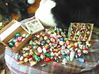 Shiny Brite And Other Brands Huge Lot Of 110 Ornaments Vintage all glass mercury
