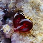 FLAWLESS Stunning LALIQUE Glass Red HEARTS ENTWINED Crystal PENDANT