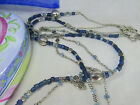 BRIGHTON your Heart long 40 silver plated Blue Glass double strand Necklace