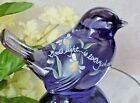 Fenton Purple Glass Bird Gods Light Is Everywhere Inspiration HP Fire Flies