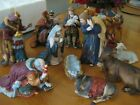 Kirkland Signature Large Porcelain Nativity Set 399707 missing baby  angel