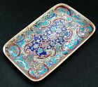 Vintage Russian Champleve Enamel Pin Tray Dresser Coin Ring Cloisonne Vanity