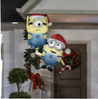 5 Ft HANGING MINIONS WITH CANDY CANE Minion Christmas Inflatable Gutter Tree