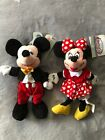 Mickey And Minnie Plush Beanies 2000 New With Tags Disney Park