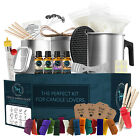 Candle Making Kit Soy Wax 16 Color Dyes Thermometer Tins Wicks Melting Pot