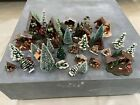Large Lot of Vintage CHRISTMAS Plastic NATIVITY Sets Bottlebrush Trees And More