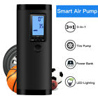 Electric Air Compressor Tire Pump 3 In 1 With LCD Digital Display For Bike Ball