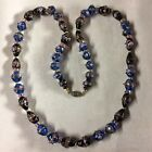 VTG Venetian Glass Wedding Cake Bead Necklace 24