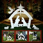 NEW For 2020 3D CHRISTMAS Tall Outdoor Nativity Scene Yard Display