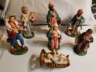 Vintage Nativity Set Figures 11 pieces Made In Italy