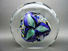 2001 Rollin Karg Studio Hand Blown Dichroic Art Glass Disc Sculpture