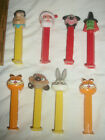 Lot of 8 Pez  Bugs, Santa, Grumpy Cat, Fred Flintstone, Witch, Dog, Mickey Mouse