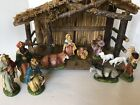 NATIVITY SET WITH MANGER ITALY VERY VINTAGE