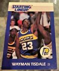 Desirable Regional 1988 Wayman Tisdale Indiana Pacers Starting Lineup CARD