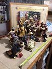 Rare Grandeur Noel 9 Piece Porcelain Nativity Set Scene Collector Edition 2002