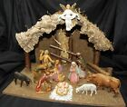 Vintage Italian Nativity Figure Set Manger Landi 11PC Angel Wise Men Holy Family