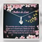 Mother in Law Necklace Marriage Second Mom Eternity Ribbon Stone Pendant Keepsak