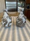 Lladro 7056 & 7058 (2)  Dragons Bud Vases (Re-Deco) - Stunning Perfect Condition