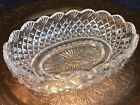 Waterford Crystal Glass Oval Fruit Bowl scalloped edge 105 signed twice