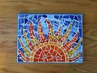 Stained Glass Mosaic Wall Art Sunrise Sunset Handmade Unique New