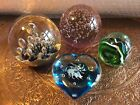 JOB LOT Collection Of Glass Paperweights Various Sizes Colours Styles 4 in lot