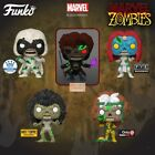 Funko POP Marvel Zombies Exclusives Full Set Of 5 In Hand + Protectors