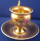 Amazing Antique 19thC Paris French Porcelain Cup  Saucer Porcelaine Tasse Vieux