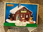Lemax Christmas Village Pine Hill Warming Hut Table Accent