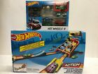 Hot Wheels Action Launch Across Challenge Track Set + 9 pack lot of 2