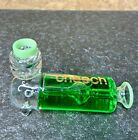 Cheech Glass Glycerine 4 Inch Ribbed Hand Freezable Cooling Tobacco Pipe Green
