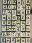 Sizzix Little Green Dies Mixed Lot of 60Total Dies all in cases pre owned
