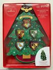 Hallmark Harry Potter Mini Hogwarts Christmas 2020 Ornaments Wooden Tree & Stand