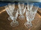 Stuart crystal glass x 8 glasses signed base port or sherry cross and fan cut