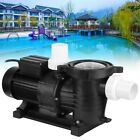 New 1HP Swimming Pool Water Pump Above Ground Motor Strainer Efficient 165m H
